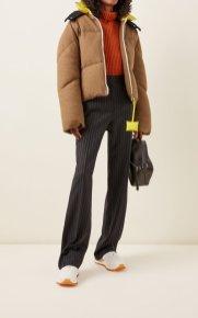модный пуховик зима 2020 2021 тренд пуховик из шерсти, хлопка и джинсы