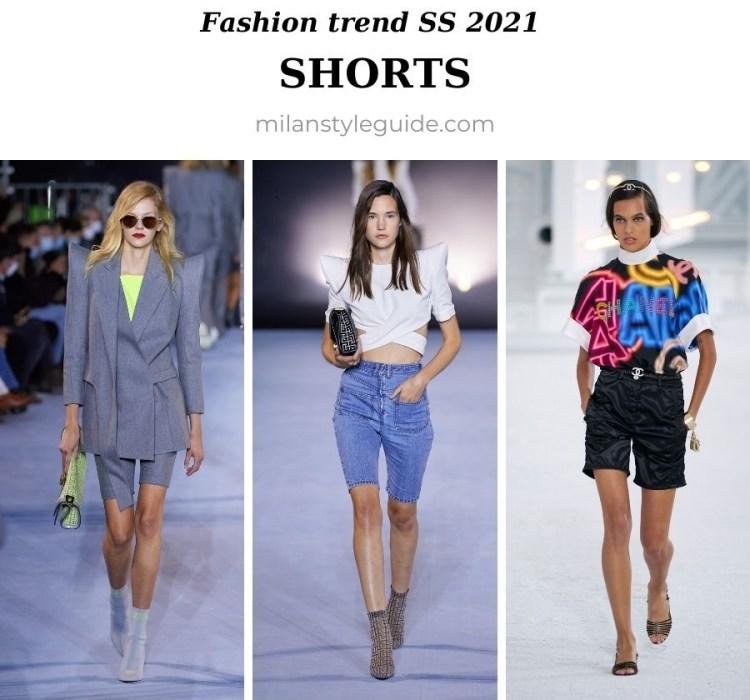 модный тренд весна лето 2021 шорты