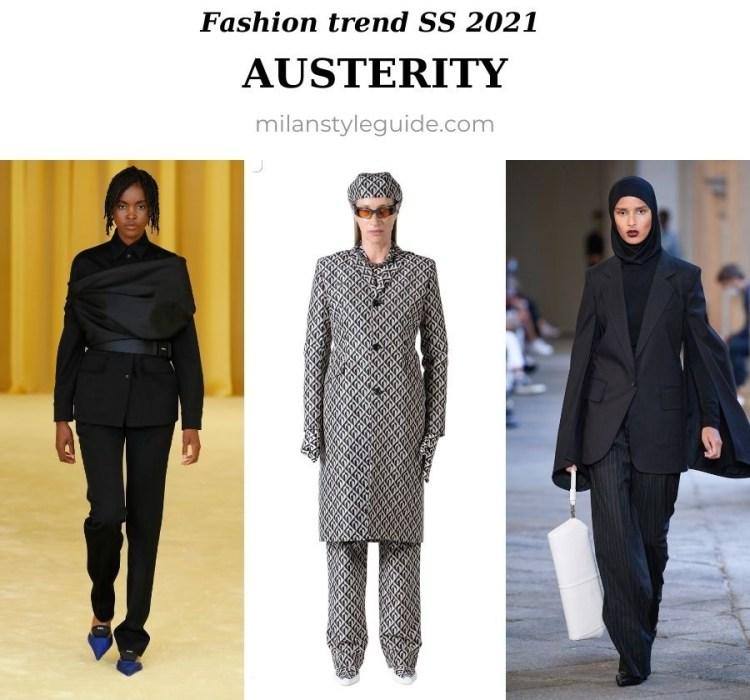 модный тренд весна лето 2021 строгость