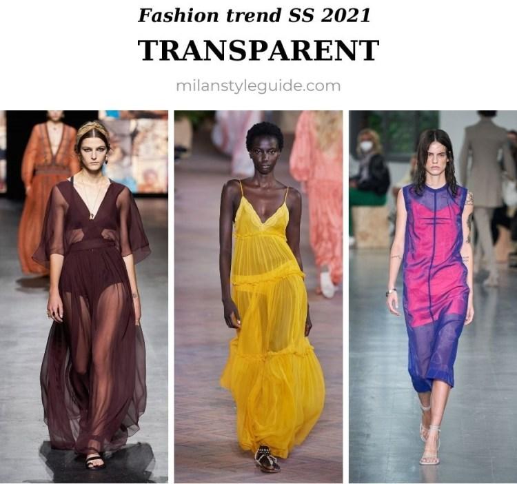 модный тренд весна лето 2021 прозрачные ткани