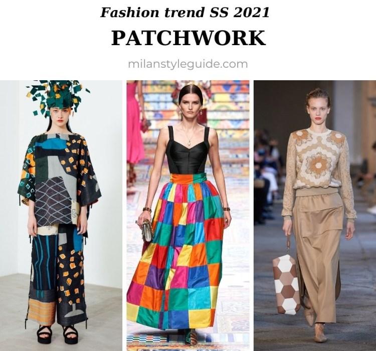модный тренд весна лето 2021 пейчворк