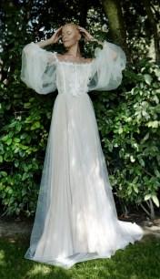 свадебные платья с пышными рукавами модный тренд 2021
