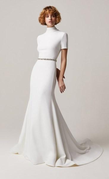 простые свадебные платья модный тренд 2021 минимализм