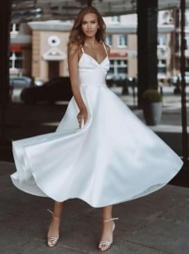 свадебные тенденции 2021 - тренд свадебное платье миди