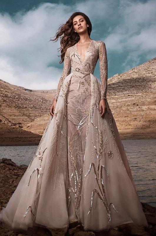 свадебные тенденции 2021 - тренд короткое свадебное платье с верхней юбкой