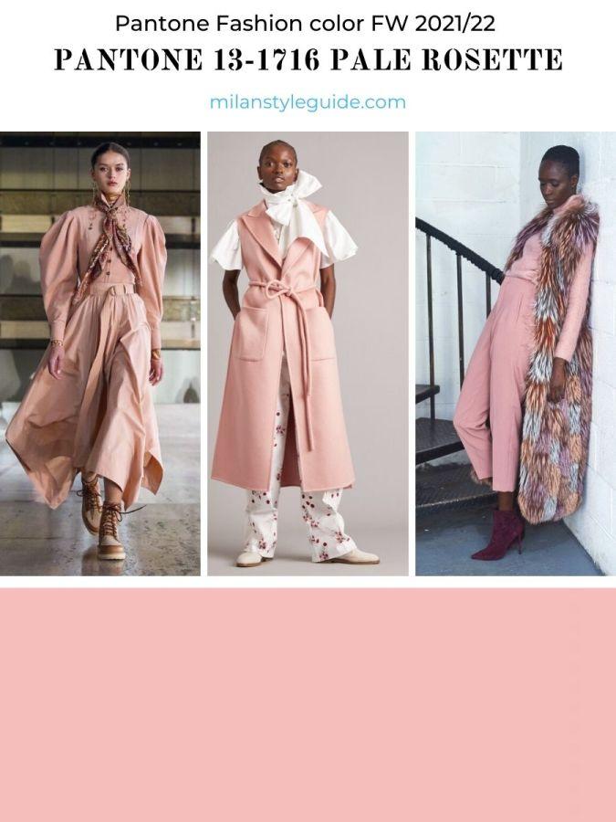 модный розовый цвет осень-зима 2021-2022 в одежде