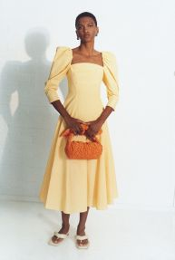 модные платья 2021 года модный тренд пышные рукава