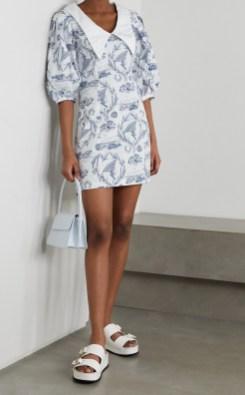 самые модные платья лето 2021 года - модные тренды платье с отложным ретро воротником