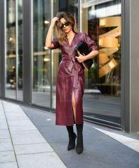модные кожаные платья 2021 года модный тренд и стритстайл