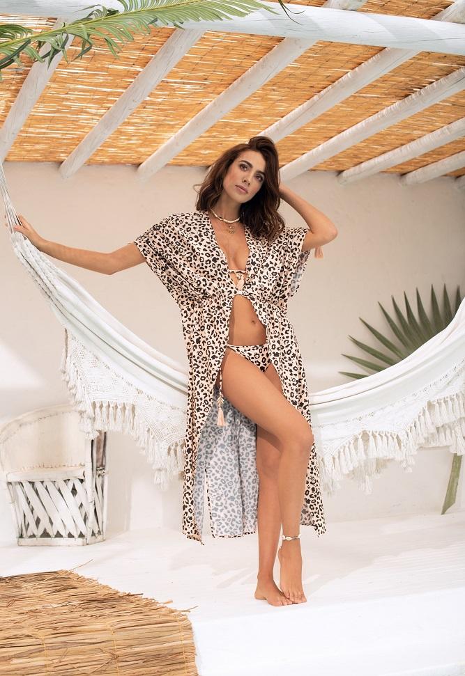 модный леопардовый купальник