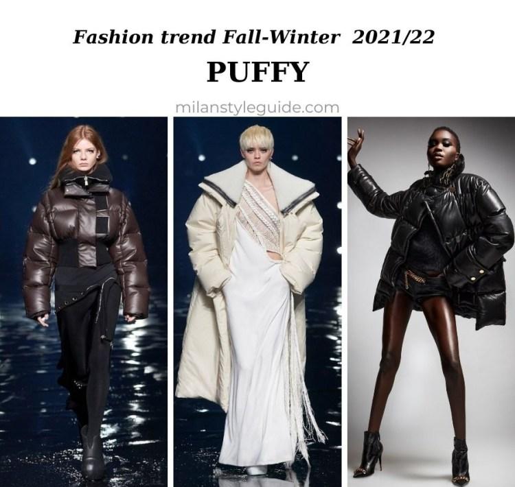 модный тренд осень зима 2021 2022 пуховики