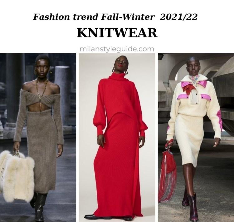 модный тренд осень зима 2021 2022 вязаные вещи