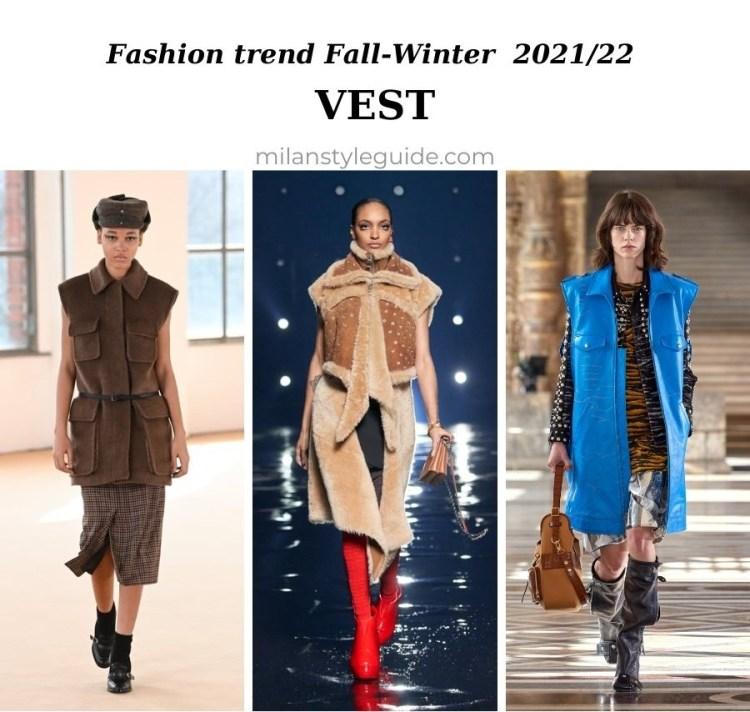 модный тренд осень зима 2021 2022 жилет