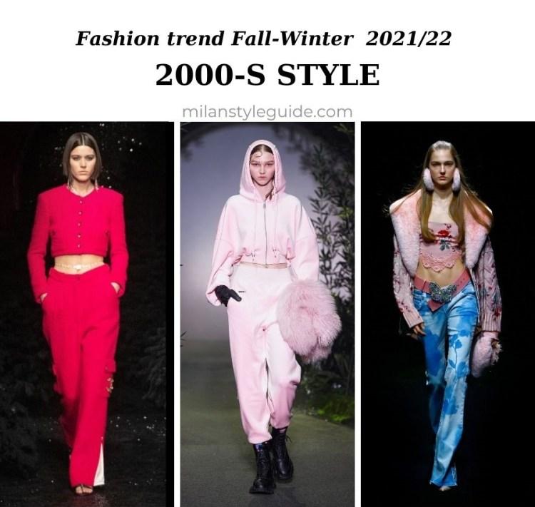 модный тренд осень зима 2021 2022 стиль 2000-х
