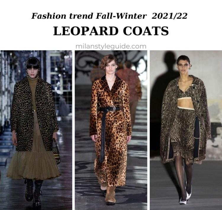 модный тренд осень зима 2021 2022 леопардовое пальто