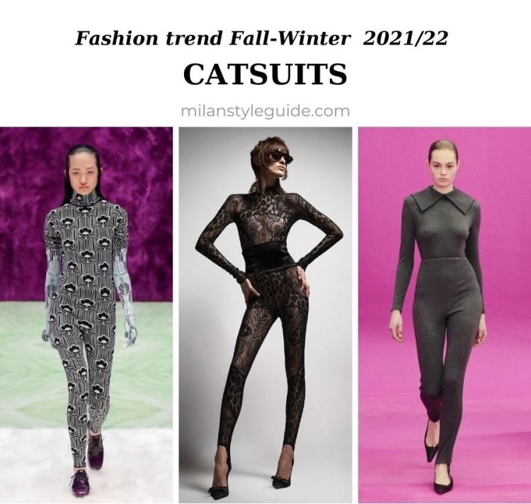 модный тренд осень зима 2021 2022 обтягивающий комбинезон