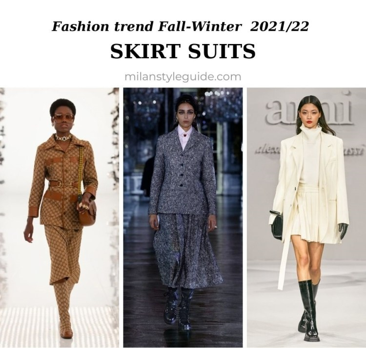 модный тренд осень зима 2021 2022 костюм с юбкой