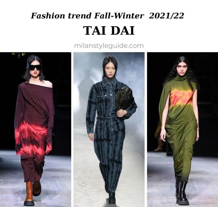 модный тренд осень зима 2021 2022 окраска тайдай