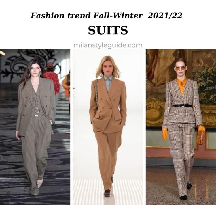 модные тенденции женской одежды осень зима 2021 2022 модная вещь брючный костюм