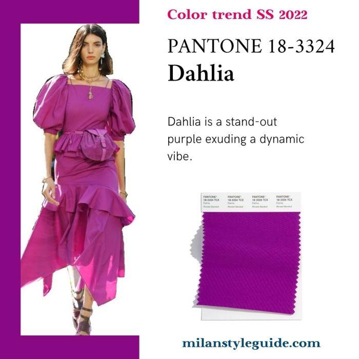 PANTONE 18-3324 Dahlia - Георгин