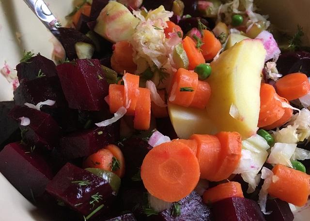 Russian beet salad vinegret