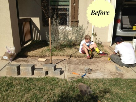 DIY landscaping, building a short wall enclosure