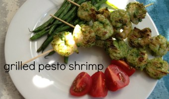 Quick dinners: grilled pesto shrimp skewers