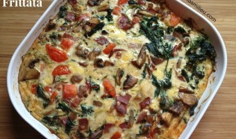 kale and tomato frittata