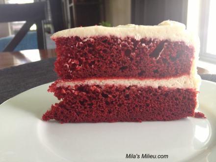 Red Velvet  cake low sugar