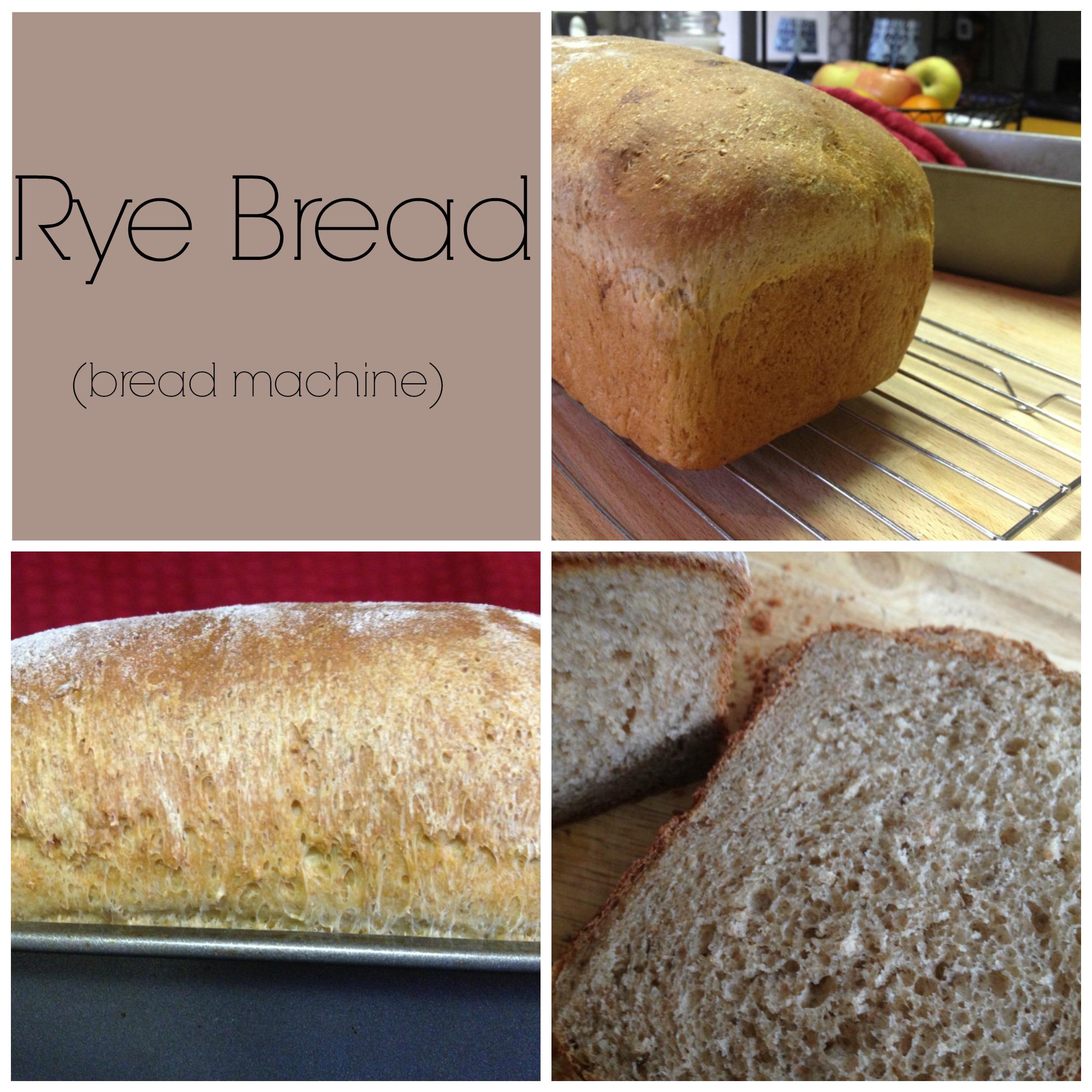 Rye bread (bread machine recipe) - Mila's Milieu