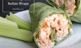chicken spinach buffalo wraps