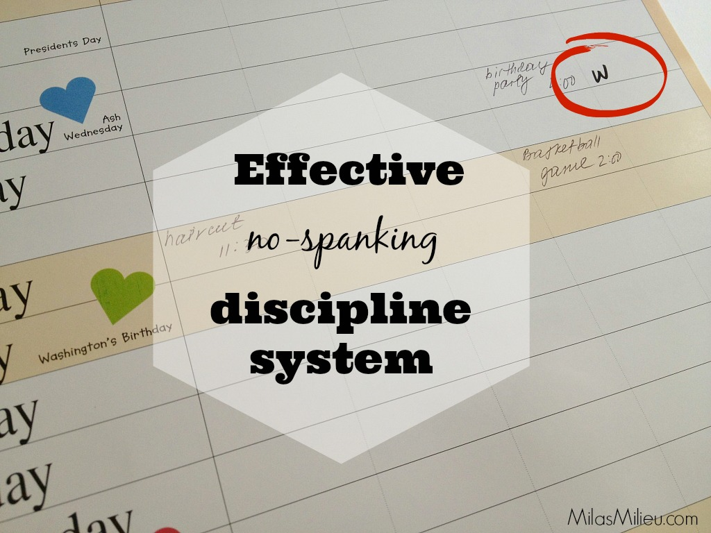 effective no-spanking discipline system