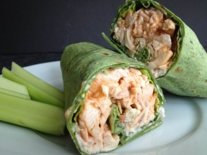 spinach chicken buffalo wraps