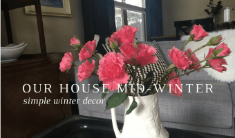 Our house mid-winter | My favorite way to decorate
