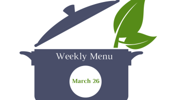 Weekly Menu | March 26