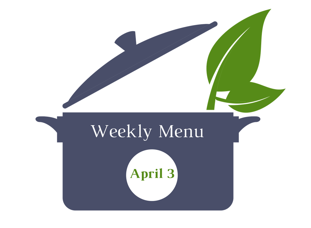 Weekly menu April 3