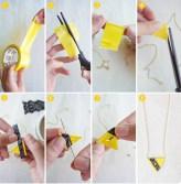 Žuta ogrlica od lepljive trake