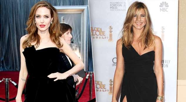 Повторяшки: Джоли иЭнистон копируют друг друга?