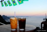 On the terrace of Vidigal's hostel