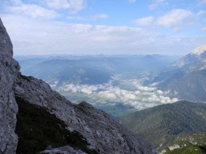 Ausblick vom Klettersteig über Saalfelde.
