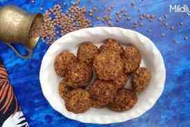 Masala Masoor vadai – Brown lentil fritters