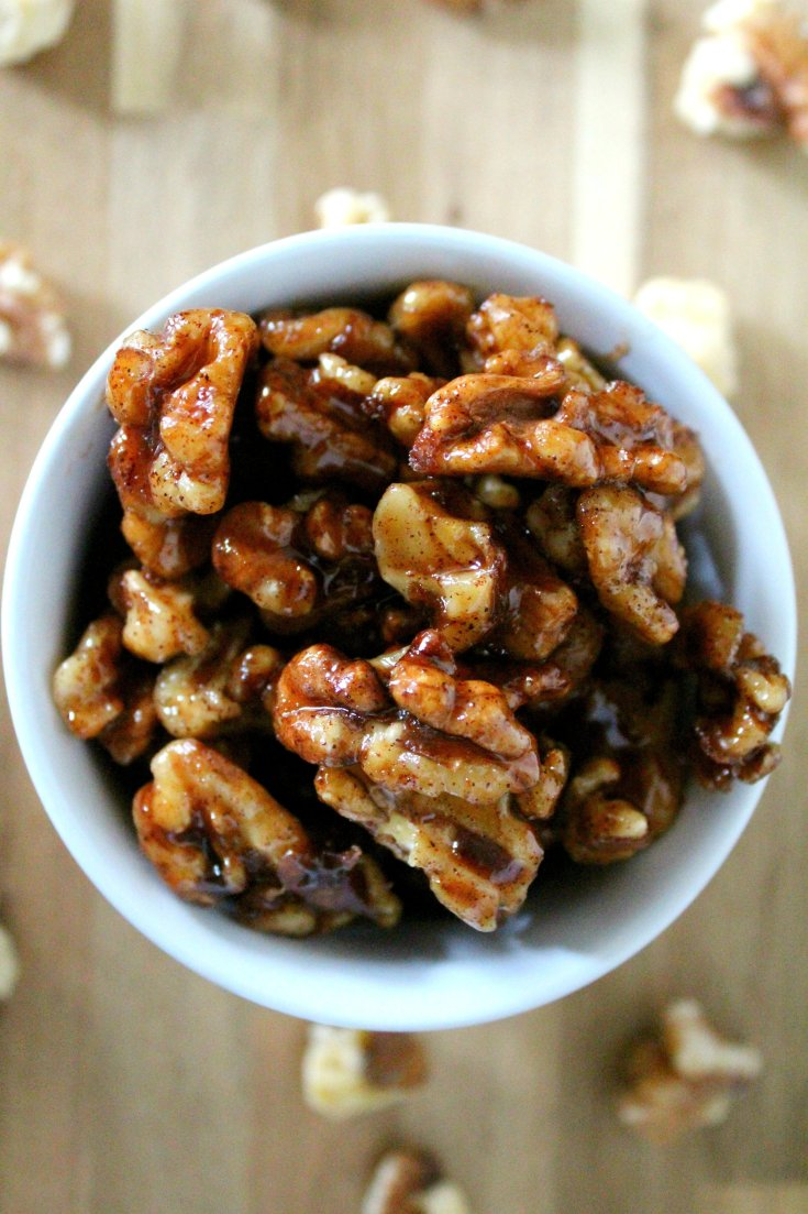 Maple Cinnamon Candied Walnuts