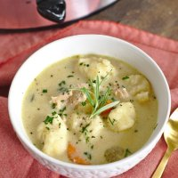 Slow Cooker Turkey Dumpling Soup
