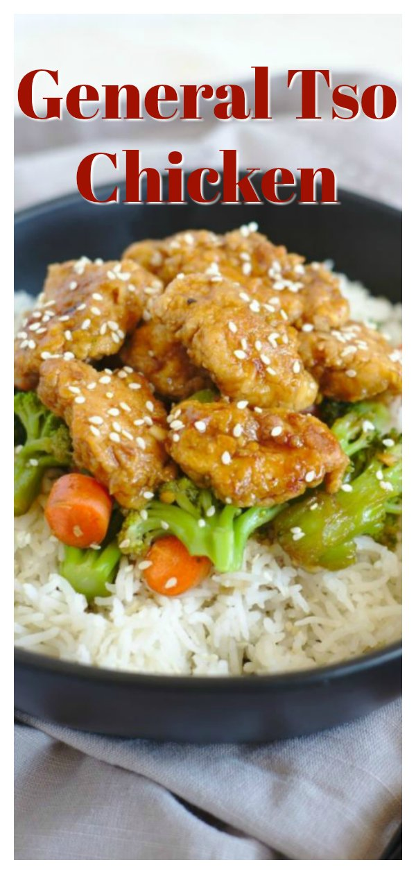 General Tso Chicken Stir Fry - Skip the takeout and try making this easy 30 minute meal! Breaded chicken baked and covered in a delicious general tso sauce! Add in some vegetables and dig in to this easy general tso chicken! General Tso's Chicken Recipe | General Tso Chicken | Chinese Food Recipe