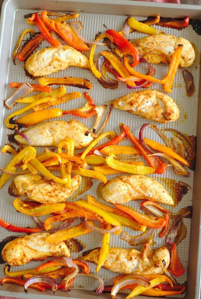 Baked Chicken Fajitas