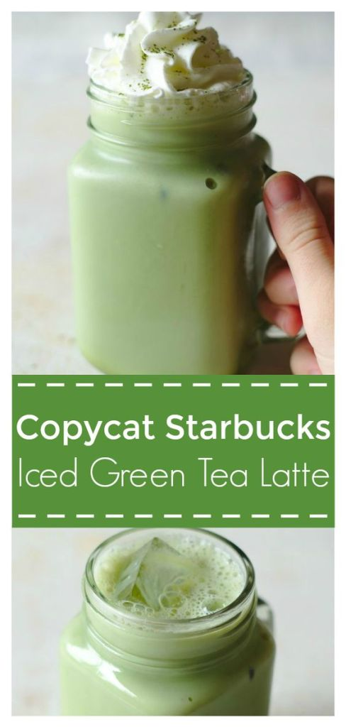 Iced Green Tea Latte - 4 ingredients Starbucks copycat recipe that takes just 2 minutes to make! This is the perfect iced matcha latte recipe! Starbucks Copycat Recipe | Iced Green Tea Latte | Iced Matcha Latte #drink #recipe #easyrecipe #starbucks #copycat #matcha