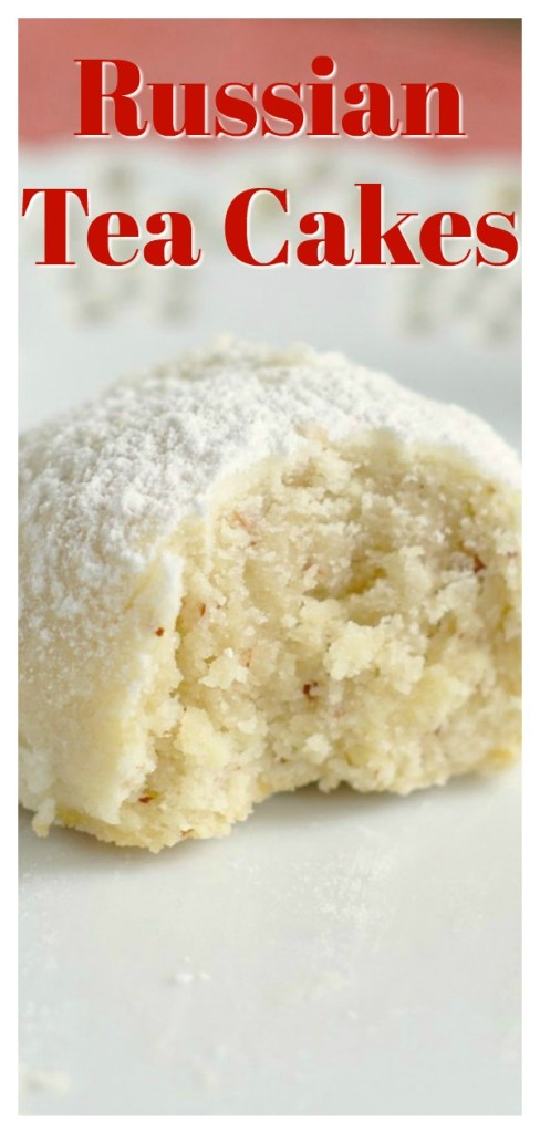 Russian Tea Cakes - Also called Mexican wedding cookies or snowball cookies.  These cookies melt in your mouth and are perfect for Christmas cookie exchanges! Russian Tea Cakes | Mexican Wedding Cookies | Snowball Cookies | Christmas Cookie Recipe #cookies #christmas #dessert #recipe #easyrecipe