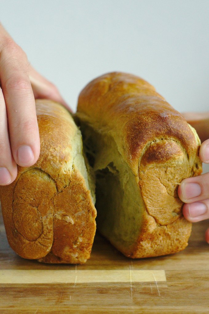 Green Tea Milk Bread