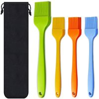 Basting Brush Silicone Heat Resistant Pastry Brushes Spread Oil Butter Sauce Marinades for BBQ Grill Barbecue Baking Kitchen Cooking, Baste Pastries Cakes Meat Desserts, Dishwasher safe, Set of 4