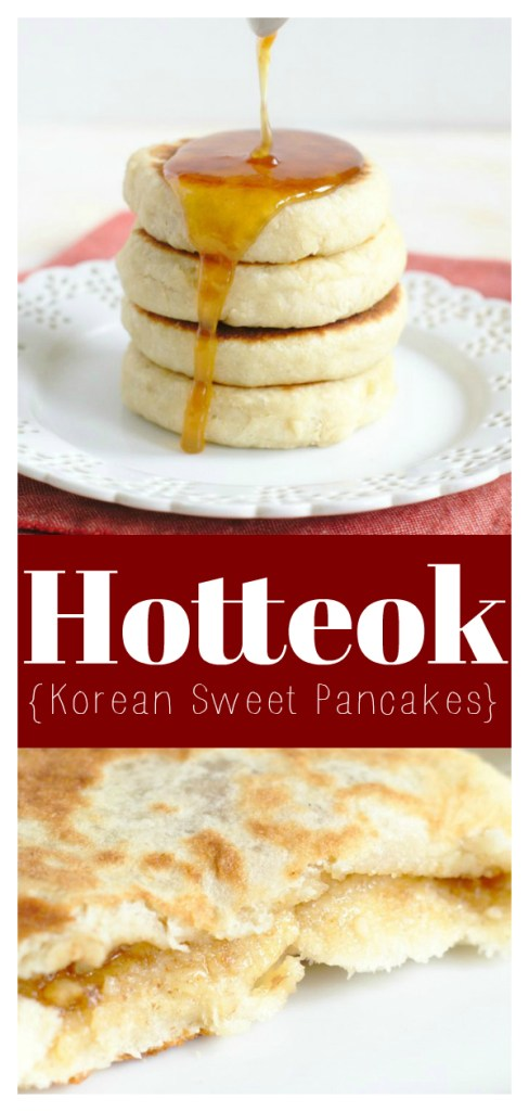 Hotteok (Korean Sweet Pancakes) - A delicious stuffed sweet pancake inspired by a popular street food in South Korea. Perfect for breakfast or dessert! Korean Recipe | Korean Dessert Recipe | Easy Pancake Recipe